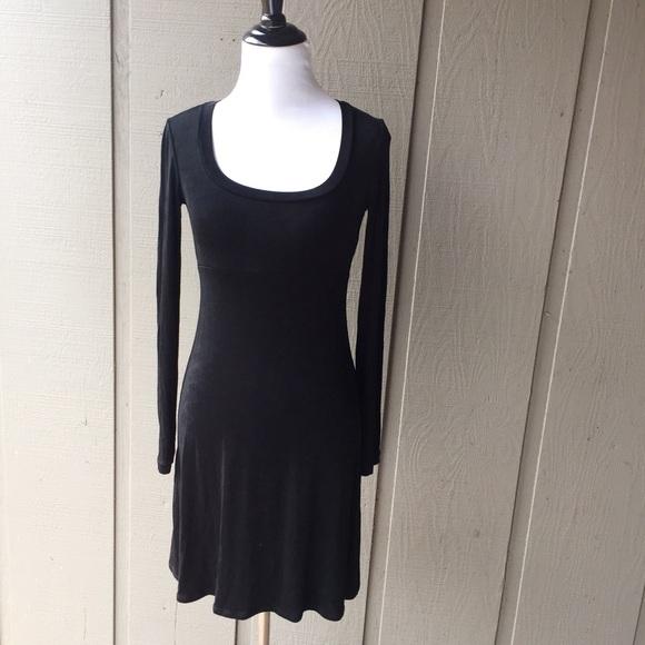 Bcbg Dresses Black Long Sleeve A Line Mini Dress Poshmark